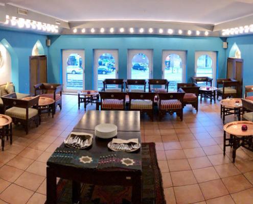Restaurant Al Salam Ambiente Innenansicht Lounge oben